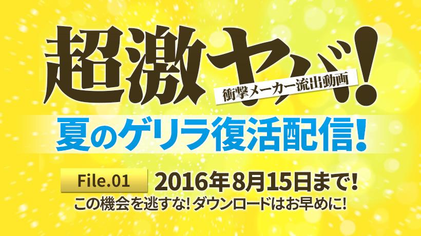 超激ヤバ!衝撃メーカー流出動画 初裏祭第3弾 vol.01